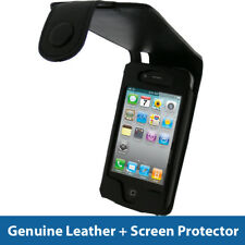 Black Leather Case for Apple iPhone 4 HD & iPhone 4S 16GB 32GB 64GB Cover Bumper