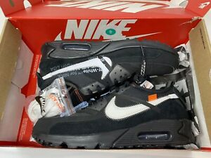 Size 13 - Nike Air Max 90 OFF-WHITE Black Lightly Worn