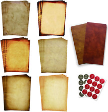 Antique Stationary Paper and Envelopes Set Vintage Parchment Paper Old Fashion