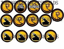 SPECIAL FORCES PINBALL Target Cushioned Decals