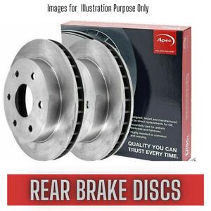 Rear Brake Discs Set FOR FORD SIERRA 2.0 CHOICE2/2 90->93 Vented 272mm Apec