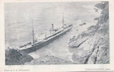 Devon 1907 S.S. Jebba agound on rocks off  Devon coast