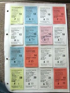 1970's Gaumont Theatre Southampton Ticket Collection (16) National Opera  Ref:66