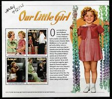 SELLOS TEMA CINE. GRENADA 2002 SHIRLEY TEMPLE OUR LITTLE GIRL  4v Mini Hoja