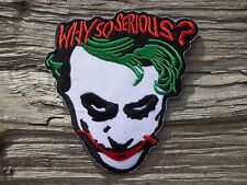 ECUSSON PATCH THERMOCOLLANT aufnaher toppa WHY SO SERIOUS biker rock gothique