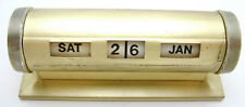Vintage Perpetual Rotating Numeral Desk Calendar Art Deco Retro