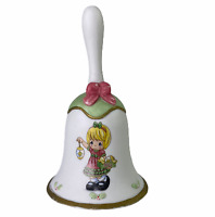 Precious Moments 2012 Light Your Heart With Christmas Joy Blonde Girl Hand Bell