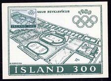 Island 555 Maximumkarte Olympische Sommerspiele in Moskau