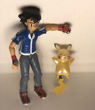 Nouveau Ash POKEMON TOMY Nintendo Figure Bundle or brillant PIKACHU & POKEBALL