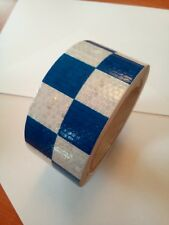 NEW HIGH INTENSITY BLUE / WHITE REFLECTIVE CHEQUERED TAPE 50mm x 10m