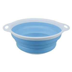 Made from Food Grade Silicon Colander Foldable Blue Kitchenware Dinnerware