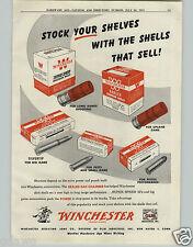 1951 PAPER AD Winchester Ammunition Box Boxes Ammo Super Spped Shotgun Silvertip