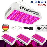 1-4× LED Wachsen Licht 400W Pflanzenlampe Vollspektrum für Zimmerpflanzen Hydro