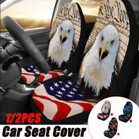 Universal Car Front Seat Cover Cushion Protector Animal Printed SUV Van
