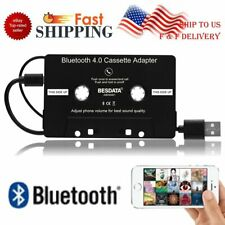 Bluetooth Stereo Audio Aux Car Cassette Adapter Tape for Smartphone Mp3 Player