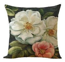 Kissenhülle Kissenbezug Motivkissen floral Rose Canvas-Stoff, 43 x 43 cm