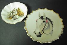 F.R. Gray & Sons LTD Scallopped Horse Plate and Shallow Bowl Aldridge Staffs