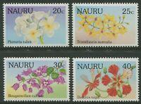 NAURU: FLOWERS 1986 - MNH SET OF FOUR (G09-PB)