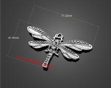 PJ950  1pc Retro Tibetan Silver(dragonfly pendant)Jewelry Accessories wholesale