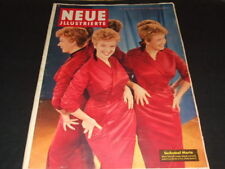 "Marilyn Monroe … half side inside … german magazine ""Neue Illustrierte"" … 1956"