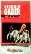 GIORGIO GABER Storie del signor G 2 DVD + LIBRO Nun Edel 2005 Usato Raro OTTIMO