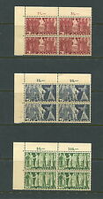 Switzerland  1938  #244-6 blocks    MNH  D979