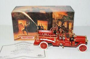 Matchbox Models of Yesteryear 1911 Mack Fire Engine Truck COA