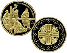 CHRIST'S CARRYING OF THE CROSS COMMEMORATIVE COIN PROOF VALUE $99.95