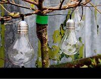Solar Powered Retro Edison Bulb String Lights Garden Lamp Outdoor Summer Party