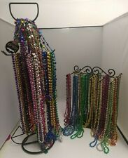 Lot of 12 Mardi Gras New Years Assorted Colorful Bead Necklaces Party favors