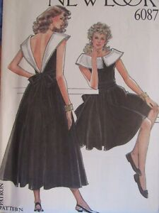 Stunning OOP NEW LOOK 6087 Misses Flared Dress in 2 Lengths PATTERN 8-18 UC