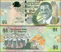 Bahamas 1 Dollar. UNZ 2015 Banknote Kat# P.71Aa