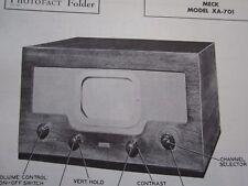 MECK  XA-701 TELEVISION TV PHOTOFACT