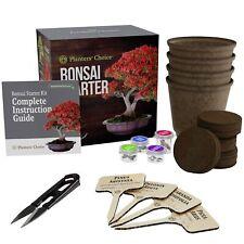 Planters' Choice Bonsai Starter Kit - the Complete Kit to Easily Grow 4 Bonsai T