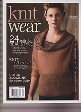 KNIT WEAR MAGAZINE FALL/WINTER 2013, SIMPLE HANDKNITS FOR THE THOUGHTFUL KNITTER