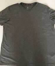 New Men's Adidas Climalite 100% Polyester Gray Short Sleeve T-shirt Size: (2Xl)