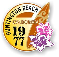 Retro tavola da surf Surf Huntington Beach California 1977 Auto Camper Van Adesivo