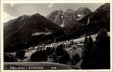 Telfes Stubai Tirol alte Postkarte ~1940/50 Blick ins Tal mit Schlickerzinnen