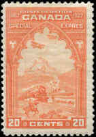 Mint H Canada 20c 1927 F+ Scott #E3 Special Delivery Stamp