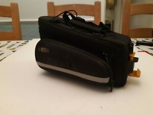 topeak RX trunk bag DXP with integrated panniers with waterproof cover