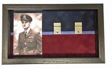 Large RAF Regiment Medal Display Case for 5+ Medals With Photograph. Black Frame