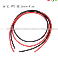 12 AWG Gauge Wire Silicone Flexible Copper Black Red Stranded Cables For RC