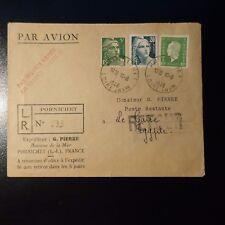 AVIAZIONE LETTERA COVER DI LINEA RAPIDO AIR FRANCE PER IL CAIRO EGITTO 1946