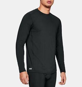 Under Armour Men's UA Tactical Crew Base Long Sleeve Shirt 1316936-001 NWT Large