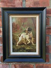 Outstanding American Sporting Dog With Woodcock Oil Painting. L. Brown 1900