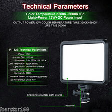 Excelvan LED Video Light Dimmable Color On-Camera Light Panel for Canon Nikon AU
