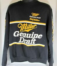 FOTL size XL Vintage Rusty Wallace Miller Beer Black Cotton Blend Sweatshirt