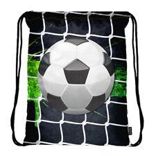 Lightweight Drawstring Bag Sport Gym Backpack with Side Pocket Soccer ball 3018