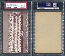 1947-66 EXHIBITS 1952 DODGERS TEAM PSA 4 (9542)
