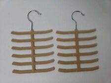 2-pack Velvet Touch Tie / Belt / Scarf Hanger - Closet Organizer - Space Saver
